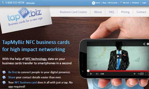 TapMyBiz - Buy NFC Business Cards online!