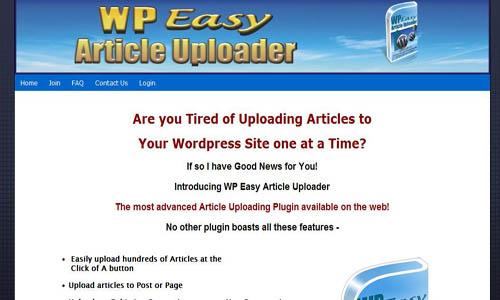 WP Easy Article Uploader